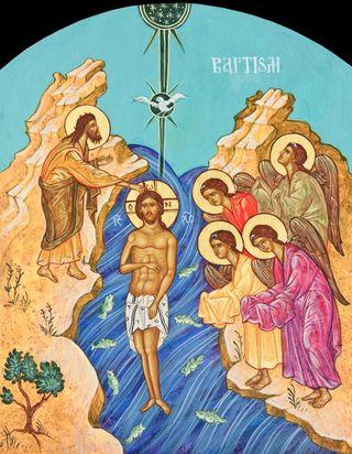 Jesus' Baptism Icon